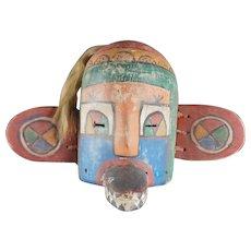 Old Kachina MASK - HOPI, Native American, Plain Indians, HORSE HAIR