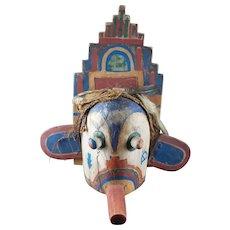 Old KACHINA Mask - Hopi, Native American, HORSE Hair