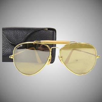 Aviator Ray Ban The General Sunglasses Vintage 1980s Mirrored Retro Sunglasses