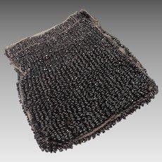 Black Beaded Purse Hand Crocheted Purse Vintage 1920s Evening Purse