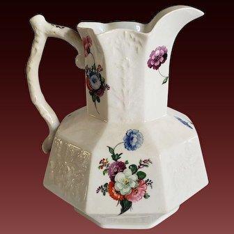 Antique Coalport English Porcelain Pitcher