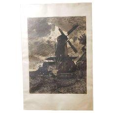 Willem Witsen 20th Century Dutch Etching Aquatint