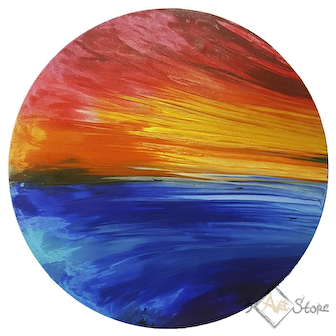 Sunset 2 - A. Knabengof Abstract art painting on canvas collecting author's work for home living room contemporary decor on wall