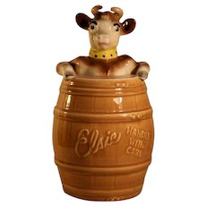 Free Shipping 1950's Vintage Elsie The Cow Promotional Cookie Jar