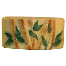 Royal Copley Vintage Cornstalk Bamboo Planter Mid Century Free Shipping