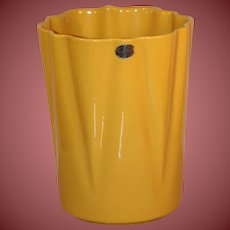 Vintage Yellow Planter by Alamo Pottery San Antonio Very Beautiful and Ships For Free