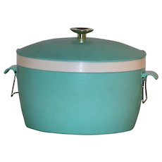 Vintage Ice Bucket Therm-O-Ware Turquoise For the Retro Kitchen Free Ship