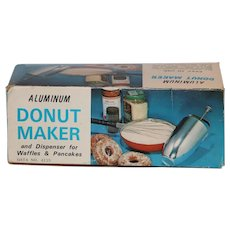 Vintage Aluminum Donut Maker Batter Dispenser Waffles Pancakes Ships Free