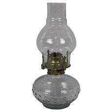 """Adorable Vintage Hobnail kerosene Oil Lamp 11"""""""
