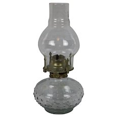 "Adorable Vintage Hobnail kerosene Lamb Oil Lamp 11"""