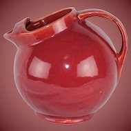 Vintage Water Juice Beverage Pitcher with Ice Spout Stunning Color Free Ship