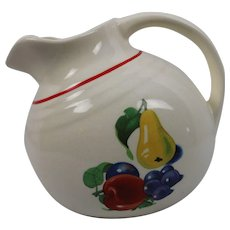 Vintage Water Juice Beverage Pitcher with Ice Spout with Fruit Free Ship