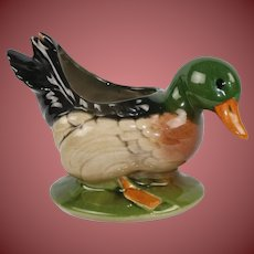 Vintage Duck Planter Made By Mr Ceramic Iola Wisconsin Free Ship
