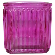 Vintage Pink Glass Candy Container
