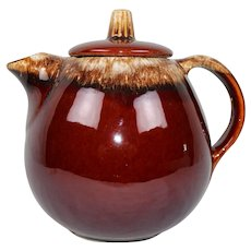 McCoy Pottery Brown Drip Tea Pot USA Ships Free