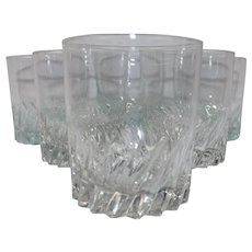 Set of 6 Cocktail or Juice Glasses Two Colors