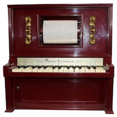 Vintage Piano Lodeon Plays Christmas Songs Works Beautifully Ships Free