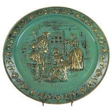 "Wall Tin Victorian Ladies Courting Gentleman 14"""