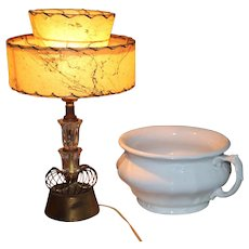 "Vintage Bedside Table Lamp 15"" Very Retro"
