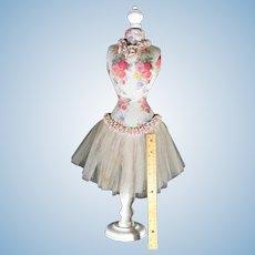 Vintage 50s Doll Dress Form Wasp Waist
