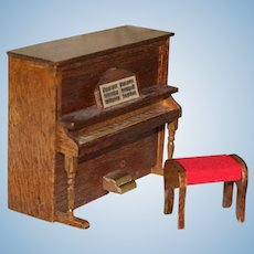 Concord Miniatures Upright Piano With Bench