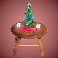Adorable Doll House Table with Christmas Tree and Gifts