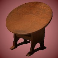 Vintage Doll House Wooden Tilt Table