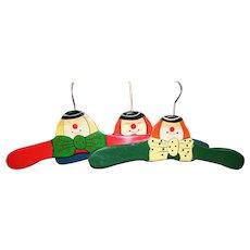 Three Vintage Whimsical Large Doll Hangers