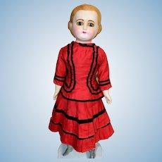 "Beautiful Antique 20"" Paper Mache Wax Doll Original Clothes Very Nice"