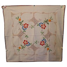 "29 x 28"" Gorgeous Embroidered Table Cloth Table Cover"