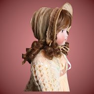 Antique Doll Bonnet for Large Doll Very Nice