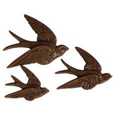 A Mid Century Trio Of Beautiful Barn Swallows