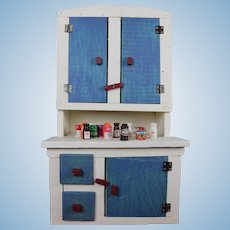Vintage Dollhouse Farmhouse Cupboard Made by Hand For Your Large Bebe