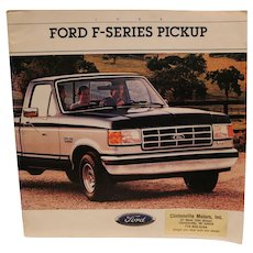 Vintage 1988 Ford Series Pick Up Brochure