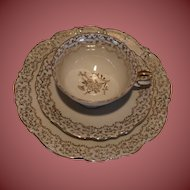 Set of 3 Cup Saucer and Matching Desert Plate Bavaria Gorgeous