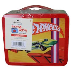 Hallmark School Days Lunch Box 1970's Hot Wheels Numbered addition