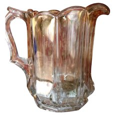 EAPG Antique Glass Pitcher 1890-1910 for Milk and Water Beautiful