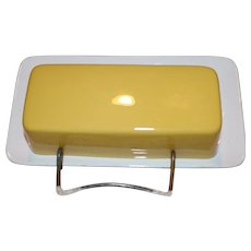 Vintage Mikasa Butter Dish Focus Shape Japan Yellow