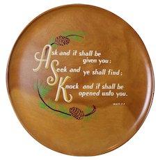Gorgeous Vintage Religious Spiritual Hanging Wall Plate