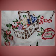 Gorgeous Hand Embroidered Table Cloth 52 x 48