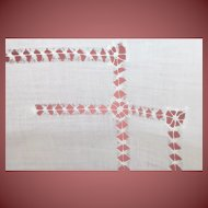 34 x 32 Table Cover or Vintage Doll Dress Making Gorgeous Vintage Piece