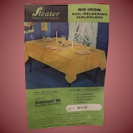 Vintage Table Cloth 60 x 120 Soft Cream Color Still in Package Just Gorgeous