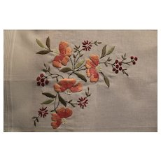 """Vintage 38"""" x 15"""" Gorgeous Table Runner A Gift From Irmgard Stunning From Hungary"""
