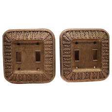 One Pair Retro 60's Switch Plate Covers Unique Check Them Out