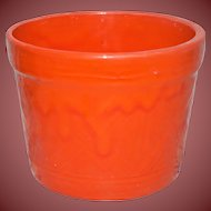 Vintage Hall Pottery Gorgeous Orange Planter