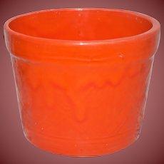 Vintage Hall Pottery Gorgeous Orange Planter