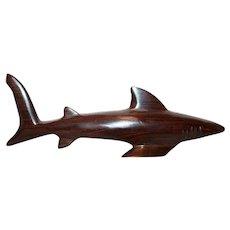 Gorgeous Ironwood Carved Shark