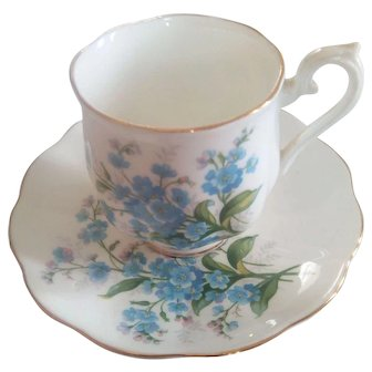 Vintage ROYAL ALBERT 1950s Forget Me Not 1950s Cup & Saucer