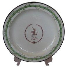 Wedgwood creamware armorial plate