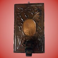 Hammered Copper Arts & Crafts Dragon Wall Sconce